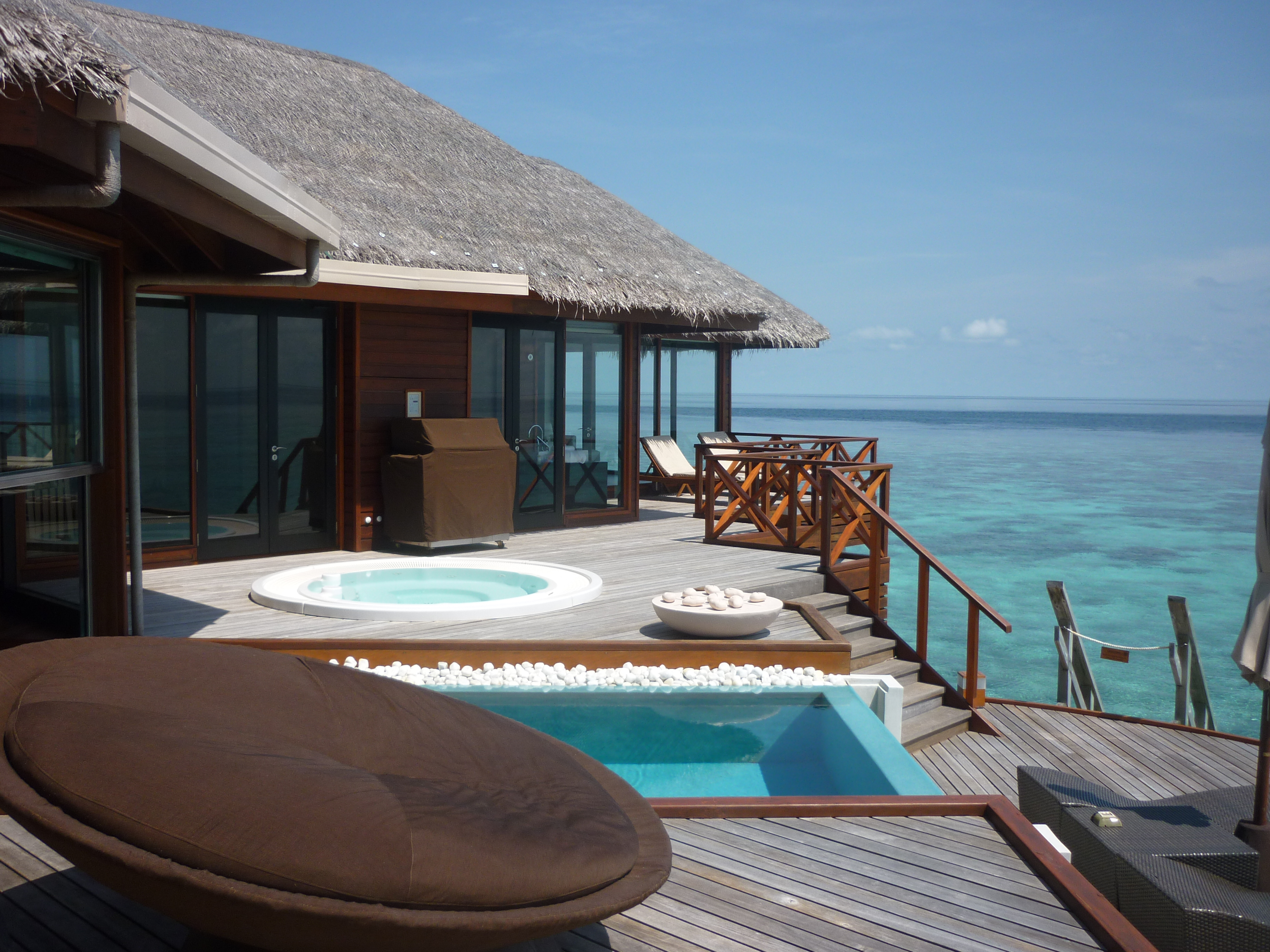 The Stunning View from the deck of the Ocean Pavilion at Huvafenfushi