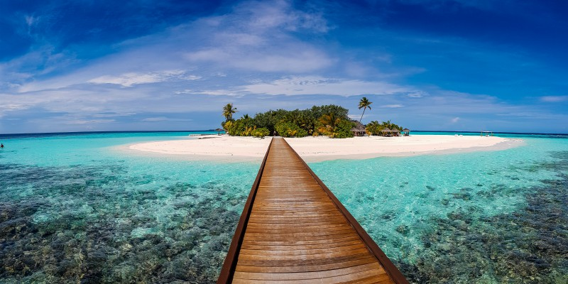 maldives with tropical warehouse
