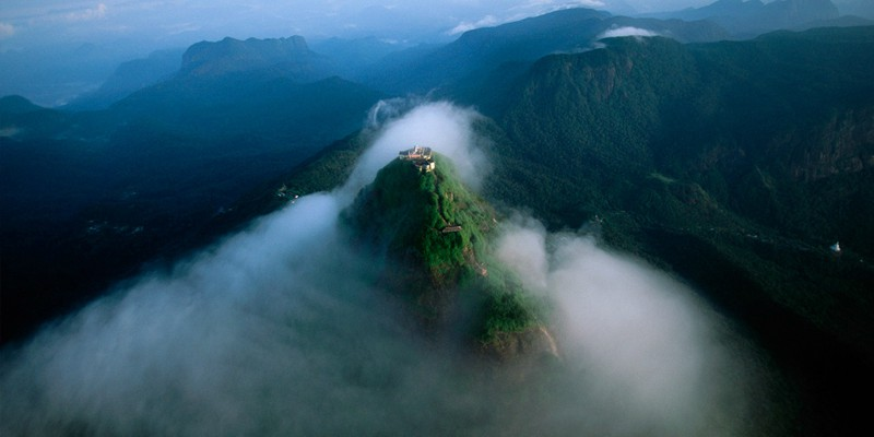 adams peak with tropical warehouse