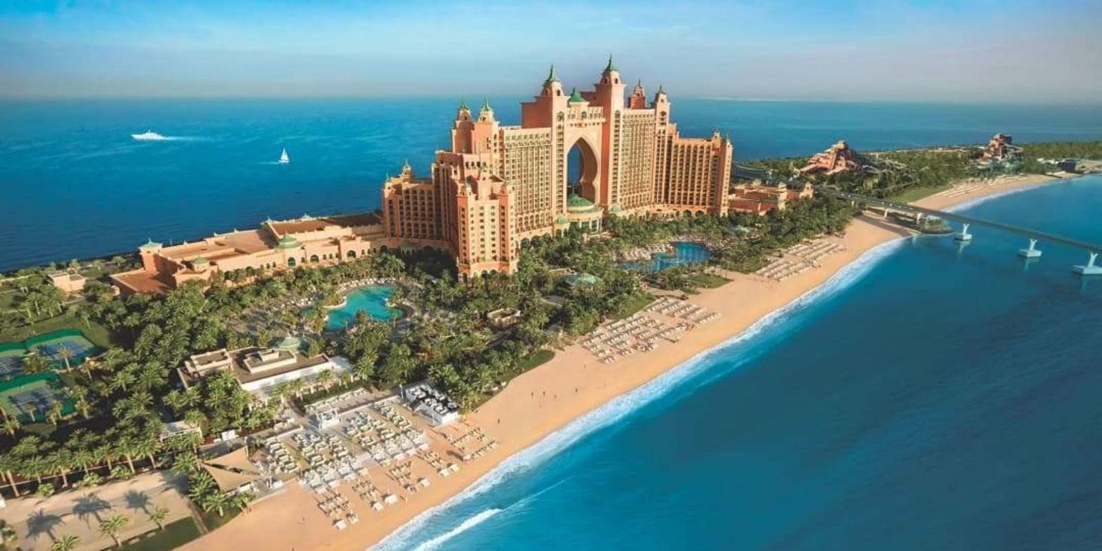 Atlantis, The Palm Dubai Aerial Resort Shot