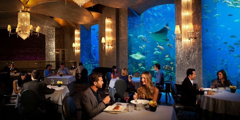 Underwater dining at Atlantis, the Palm