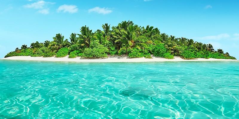 an uninhabited island in the Maldives