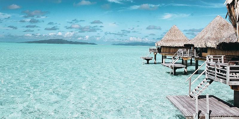 over water villas in the Maldives