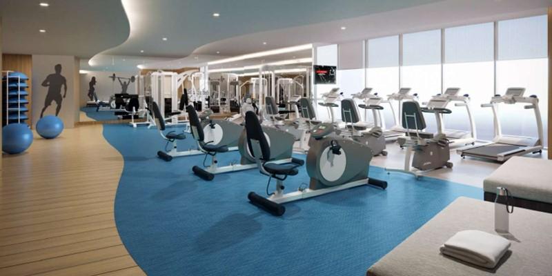 the fitness centre at Hampton by Hilton Marjan Island