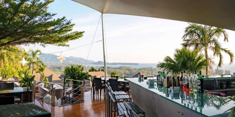 The view from the bar at 360° Bar, Phuket
