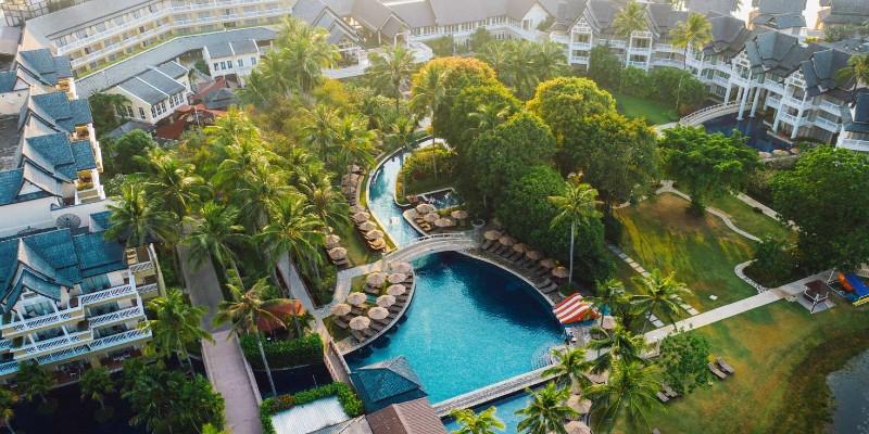 Aerial view of Angsana resort Thailand