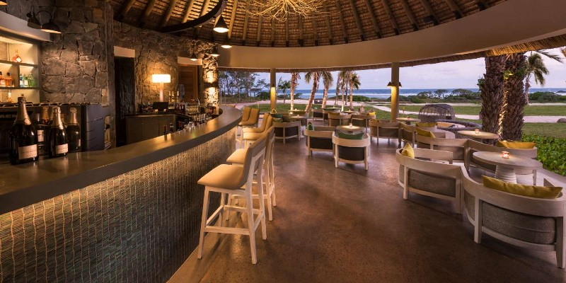 Open sided beachfront bar at Enjoy your evening meal with an unbeatable view