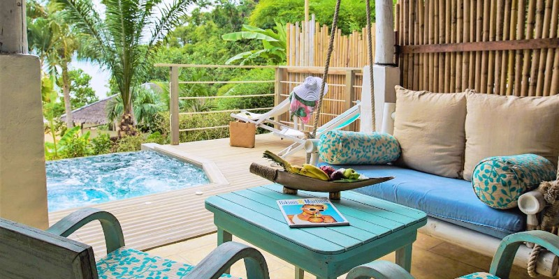 The relaxing balcony area in your room at Paradise Koh Yao