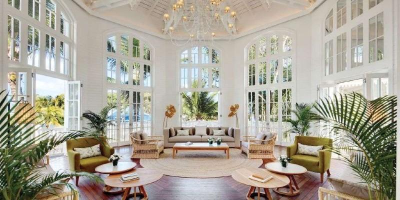 Beautiful lobby area at Heritage Le Telfair Golf & Spa Resort