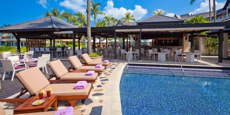 Poolside area at Angsana Thailand resort