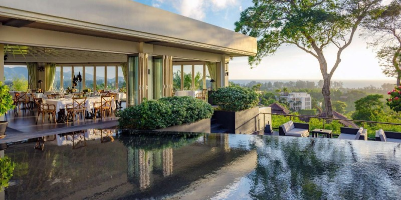 the view from Plantation Club restaurant in Phuket