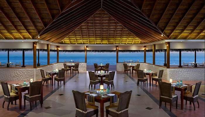 Interior shot of the main restaurant at Cinnamon Dhonveli Maldives