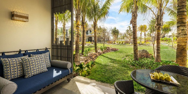 Sun terrace at Anantara Iko Mauritius Resort & Villas
