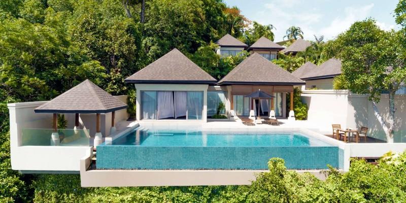 Exterior shot of the Pavilions Phuket Thailand resort