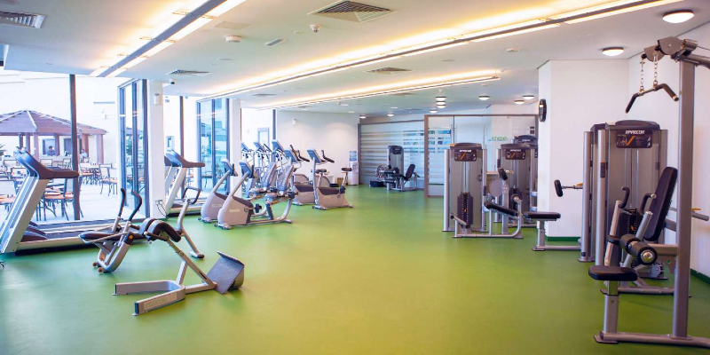 the fitness centre at JA Ocean View Hotel, Dubai