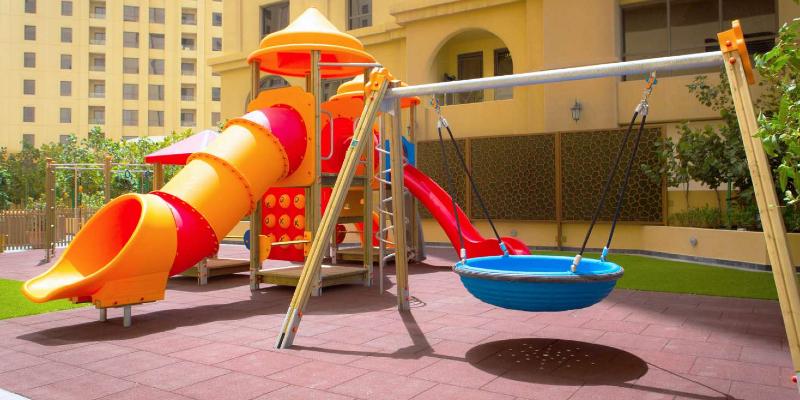 A slide in the JA Ocean View Hotel Kid's Club