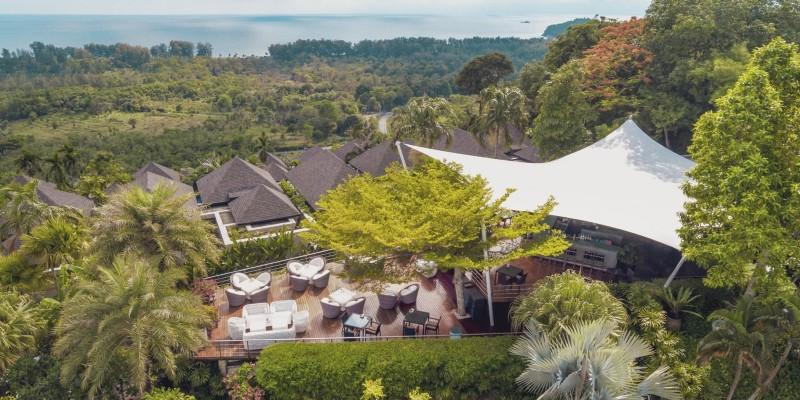 Landscape shot of the surroundings from 360° Bar, Phuket