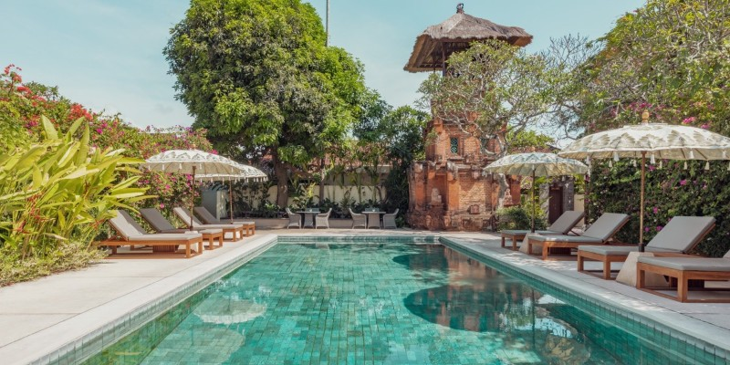 Poolside shot at the Pavilions Bali resort