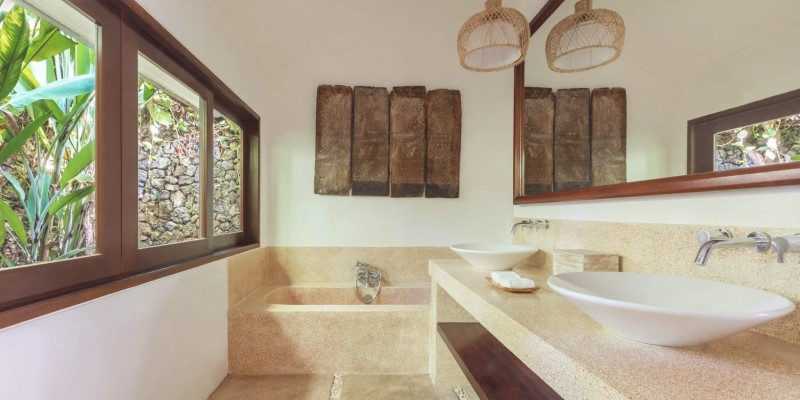 picture from inside the bathroom of a One Bedroom Pool Villa at The Pavilions Bali