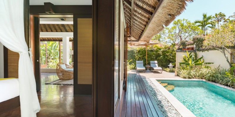 A shot from the veranda of a One Bedroom Pool Villa at The Pavilions Bali