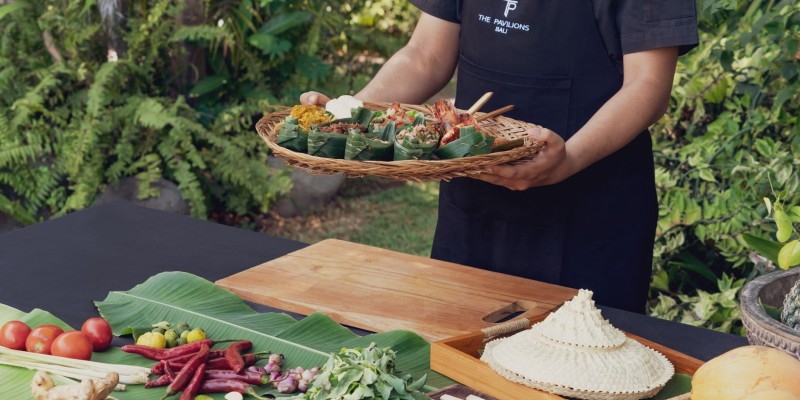 Thai cooking classes are available at the Pavilions Bali