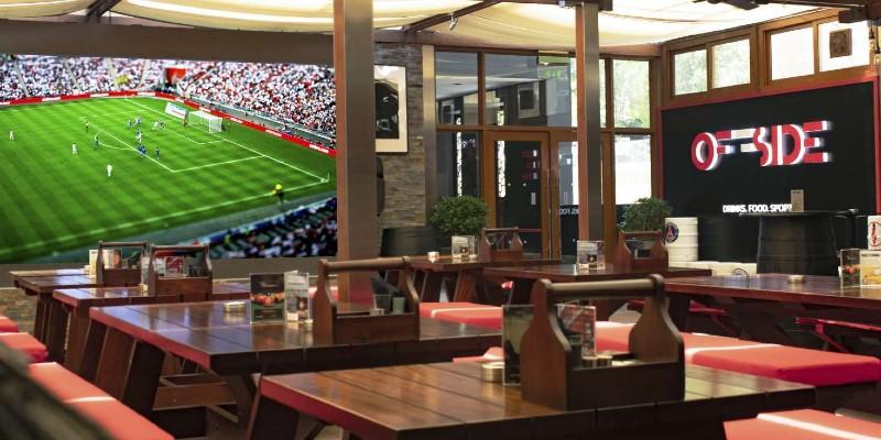 Offside sports bar and restaurant in Dubai