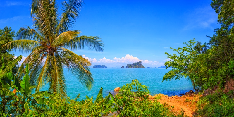 The view from a viewpoint on Koh Yao Noi island, Thailand