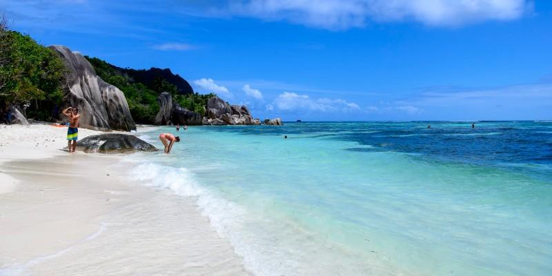 Anse Volbert beach in Seychelles