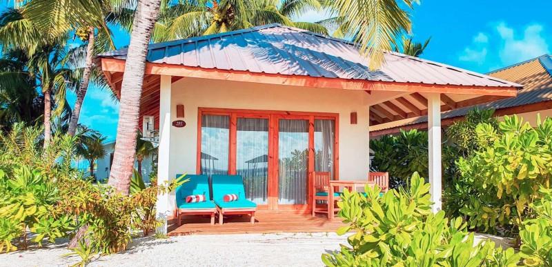 Exterior of a Beachfront Villa at South Palm Resort, Maldives