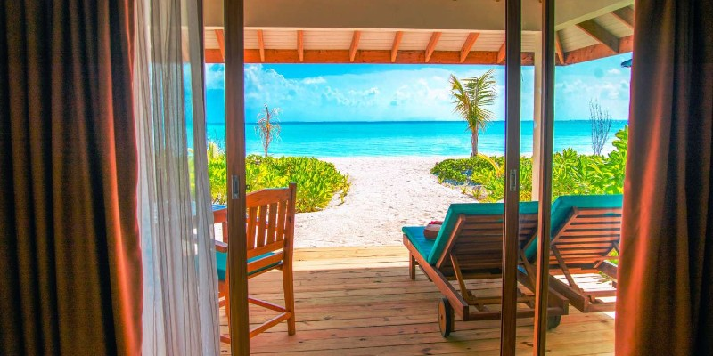 The view from a Beachfront Villa at South Palm Resort, Maldives