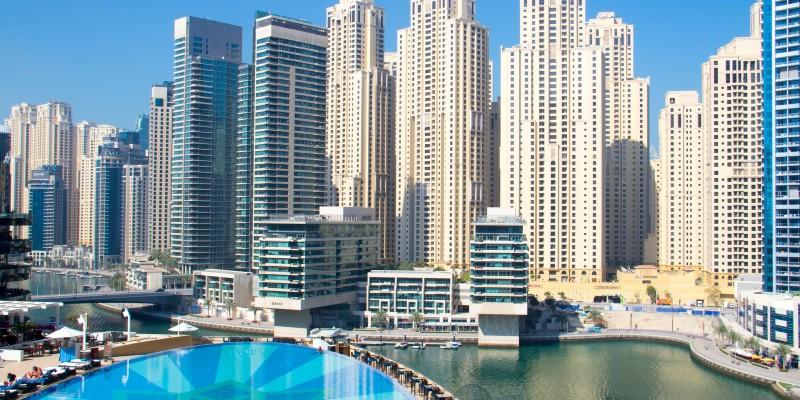 Elevated image of Dubai Marina
