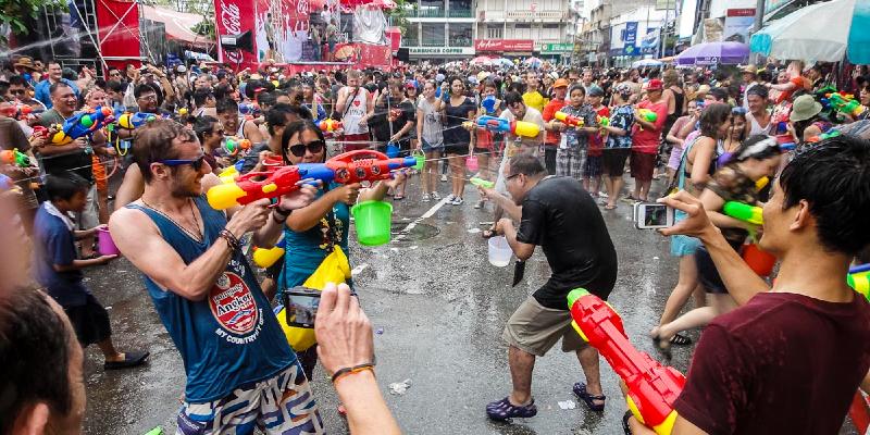 Songkran Water Festival. Picture by: John Shedrick