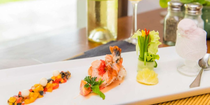 Modern cuisine at Blue Water Hotel
