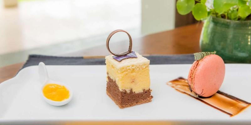An array of decadent desserts at Blue Water Hotel Sri Lanka