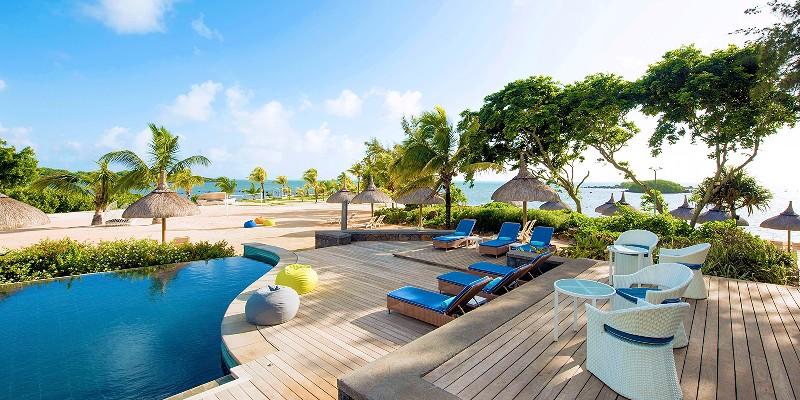the main pool area at Radisson Blu Azuri Resort & Spa