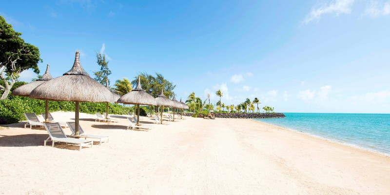 Reviere du Rempart beach in Mauritius