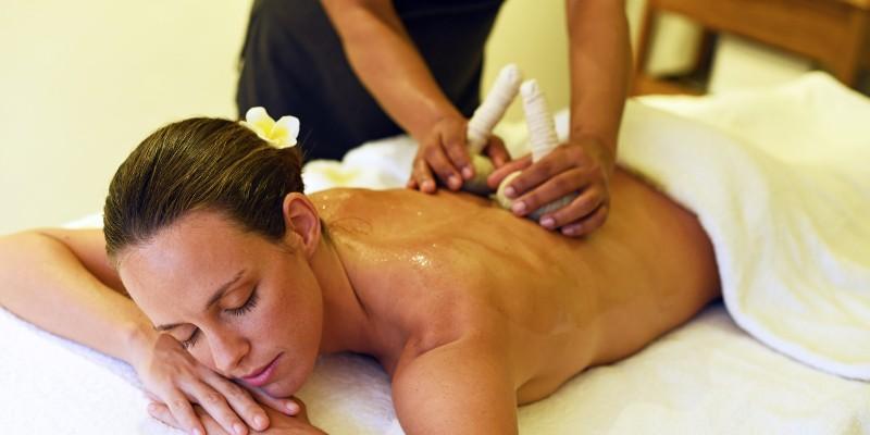 Woman getting a massage treatment