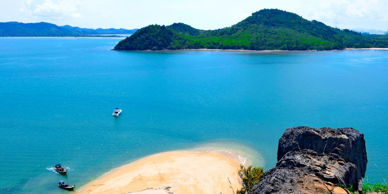 View of  Koh Yao Yai from Phang Nga Bay