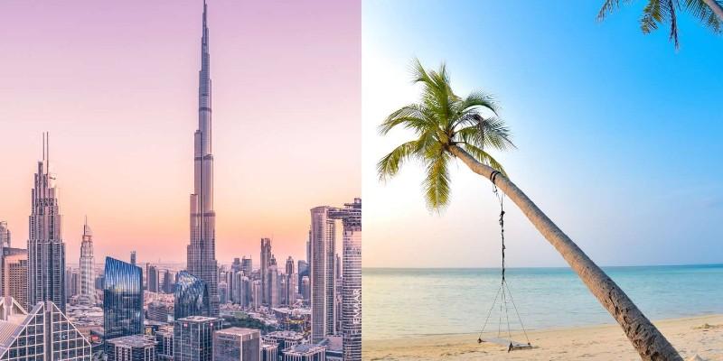 City skylines and balmy beaches
