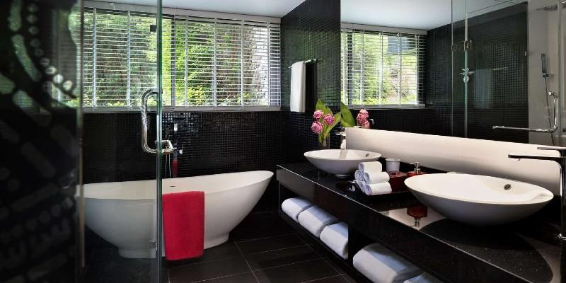 Modern bathroom at the resort