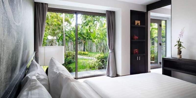 Views of the Pavilions Suites gardens from your bedroom