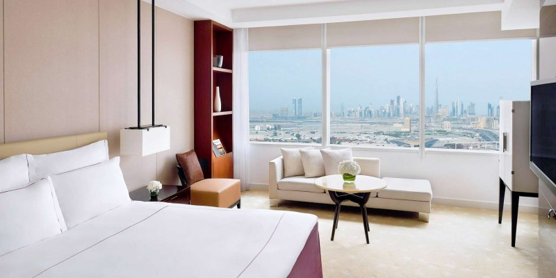 Stunning views across the city from your spacious room