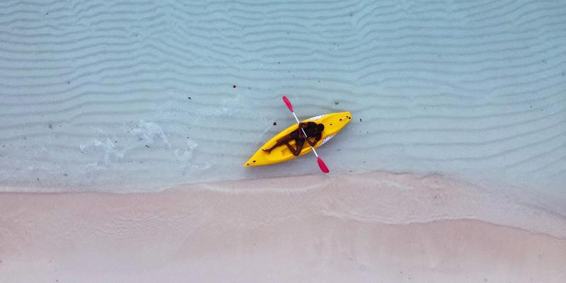 Kayaking in the Maldives