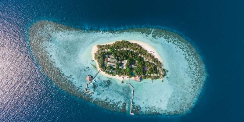 Eriyadu Island from above