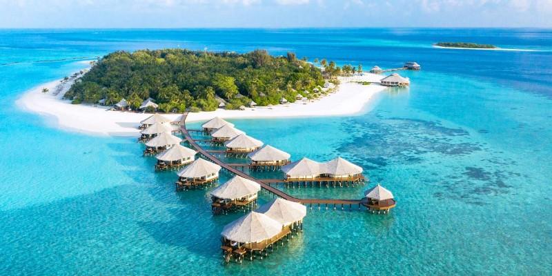 An aerial view of the stunning Kihaa Maldives resort