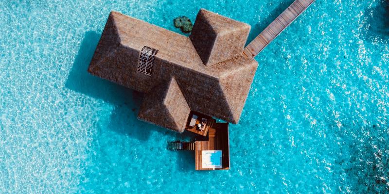A water villa in the Maldives