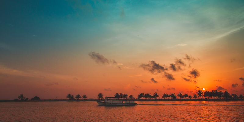 A Maldivian sunset