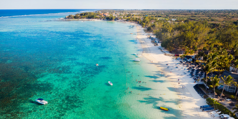 Mauritian coastline