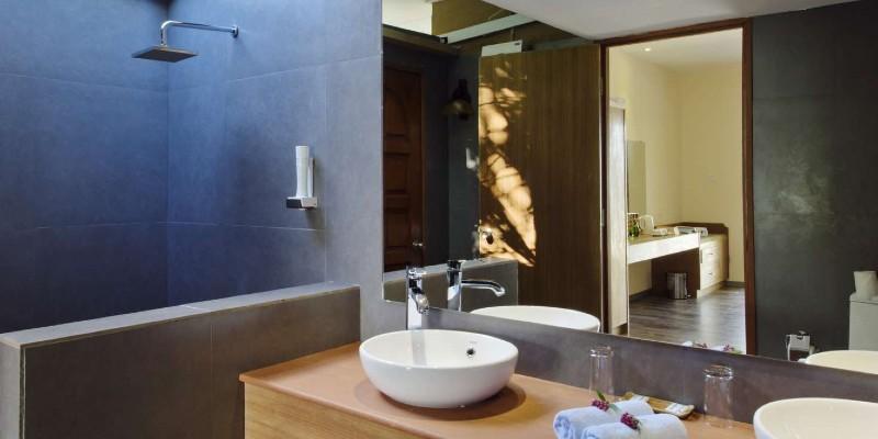 Inside a villa bathroom