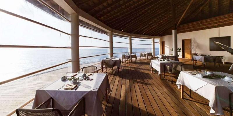 Enjoy panoramic ocean views whilst dining